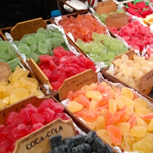 A colourful selection of fruit jellies